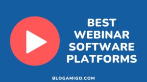 Webinar Software Platforms - Blogamigo