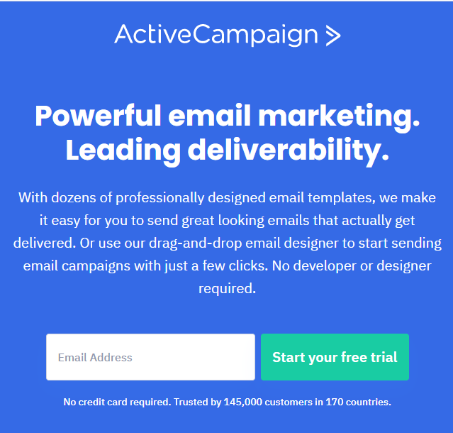 best email marketing services ActiveCampaign