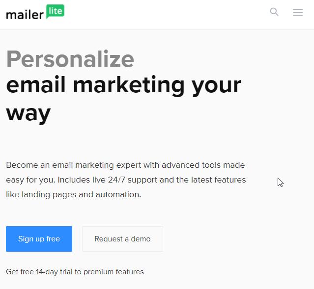 best email marketing services MailerLite