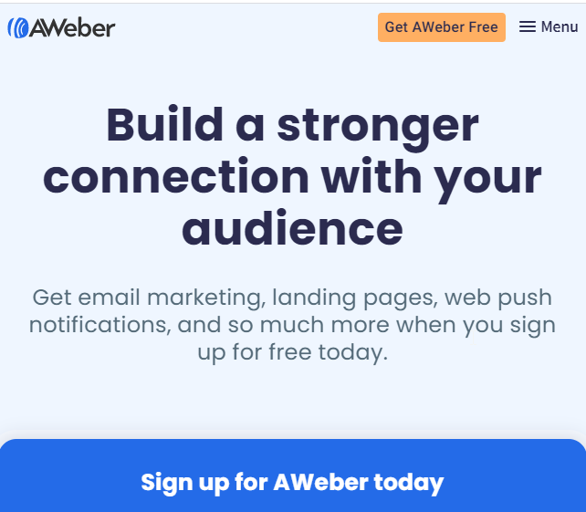 best email marketing services aweber