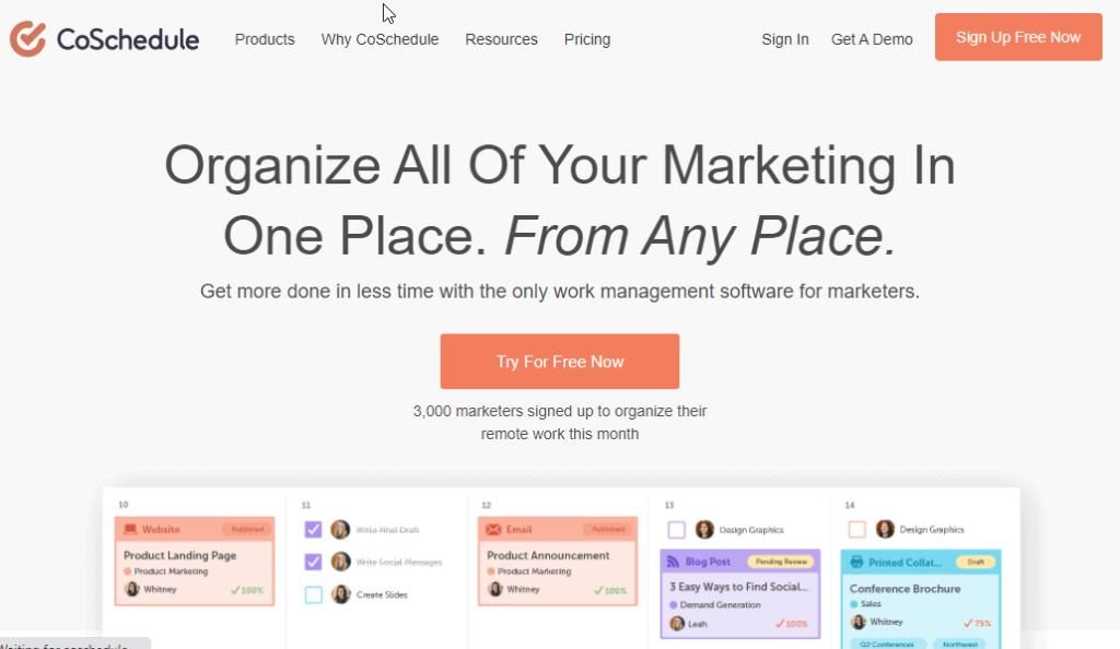 best social media management tools Coschedule