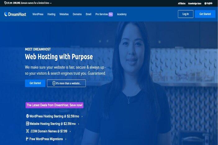 dreamhost homepage blogamigo