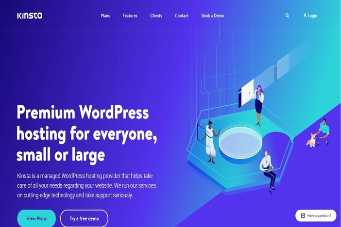 kinsta homepage blogamigo