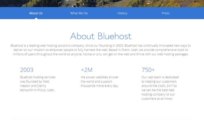 About Bluehost