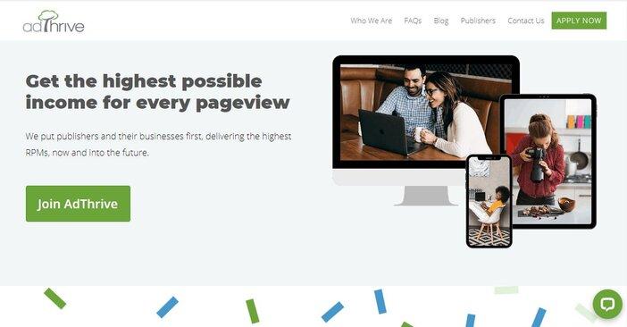 Adthrive homepage