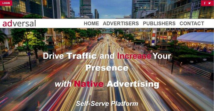 Adversal homepage