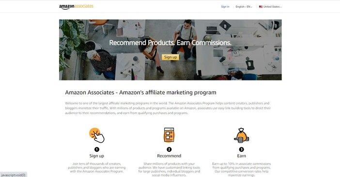 Amazonassociates homepage