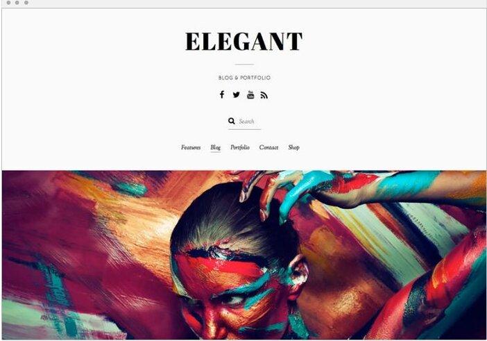 Best Minimalist WordPress Themes Elegant logo