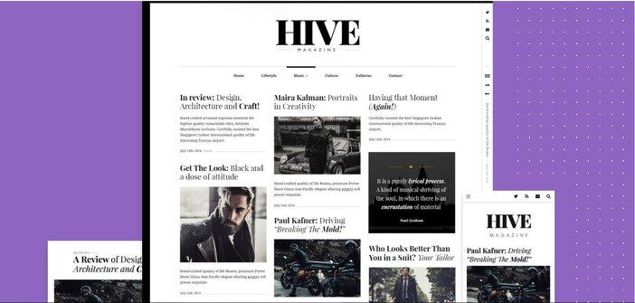 Best Minimalist WordPress Themes Hive logo