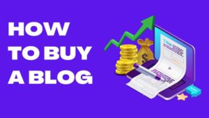 How To Buy A Blog