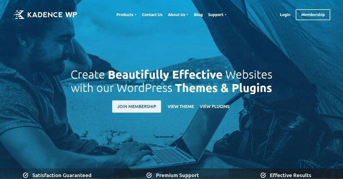 best minimalist wordpress themesKadence logo