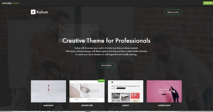 Best Minimalist WordPress Themes Kalium logo