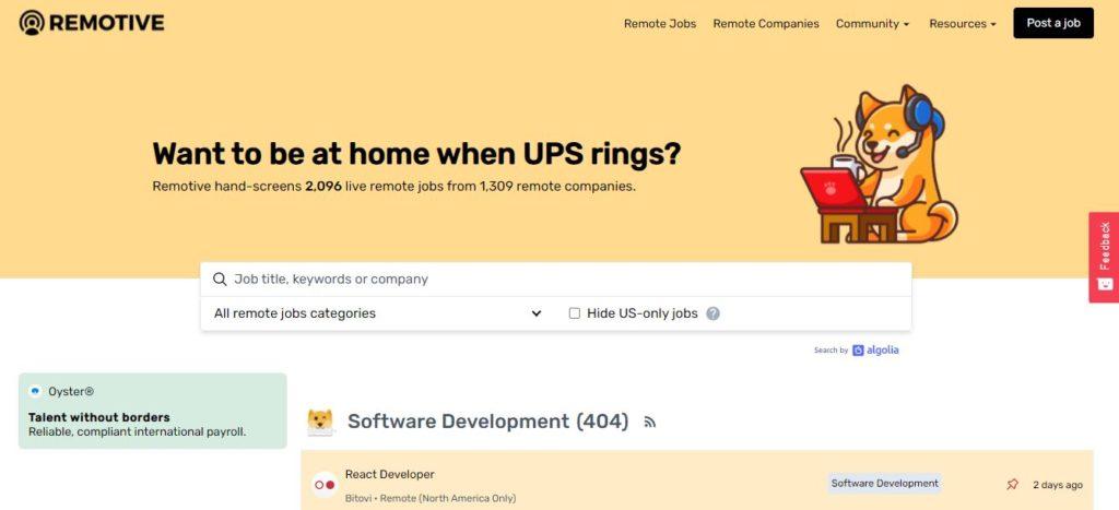 Remotive Image | Best Freelance Job Websites