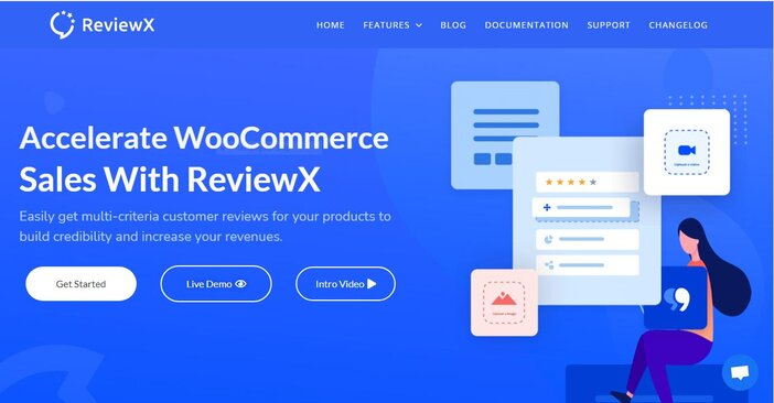 ReviewX homepage