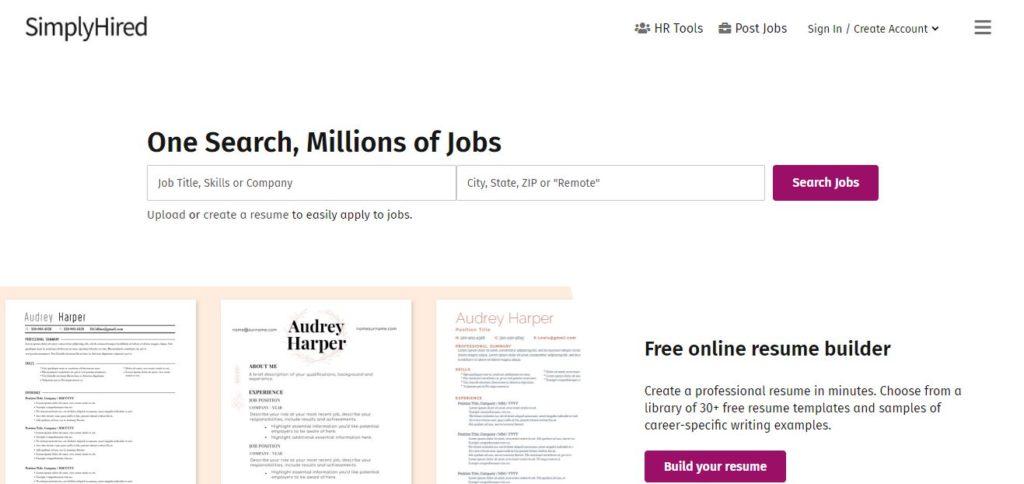 SimplyHired image | Best Freelance Job Websites