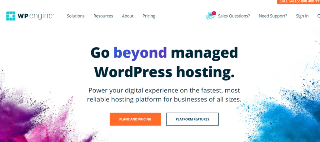 WP Engine Homepage blogamigo