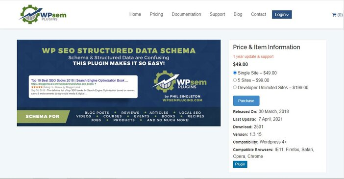 WP SEO Structure data schema homepage