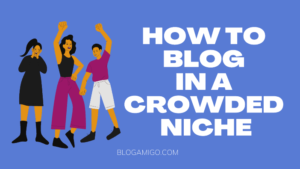 How to blog in a crowded niche - Blogamigo