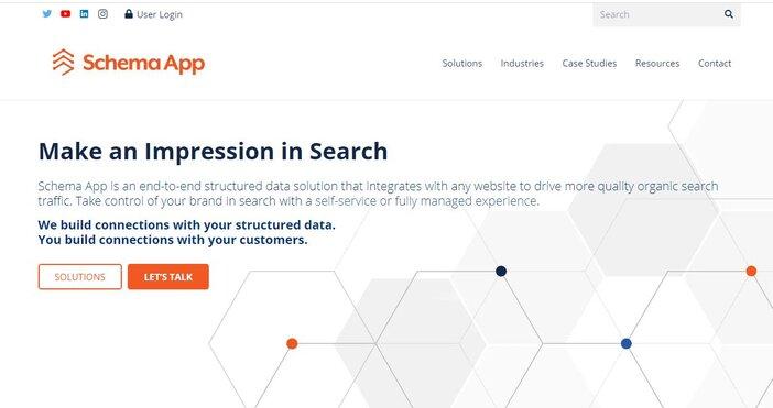 Schema App Structured Data homepage