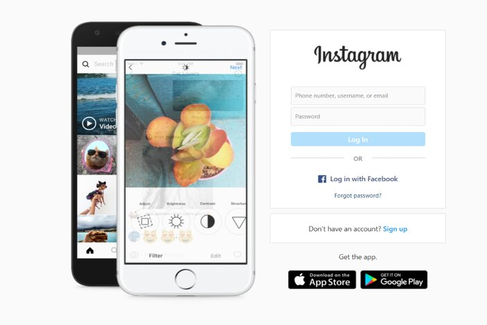 1. Go to Instagram homepage blogamigo