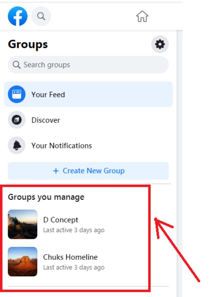 3. select the group you want to delete blogamigo