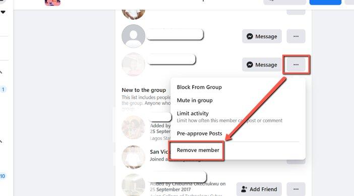 5. remove all group members blogamigo