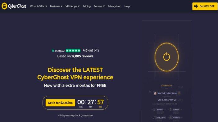CyberGhost VPN homepage blogamigo