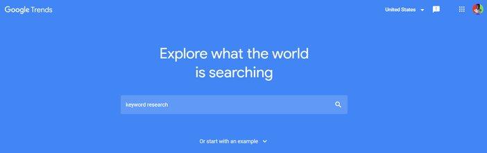 Google Trends Homepage Blogamigo