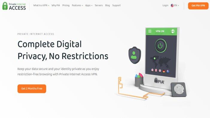 Private Internet Access VPN homepage blogamigo