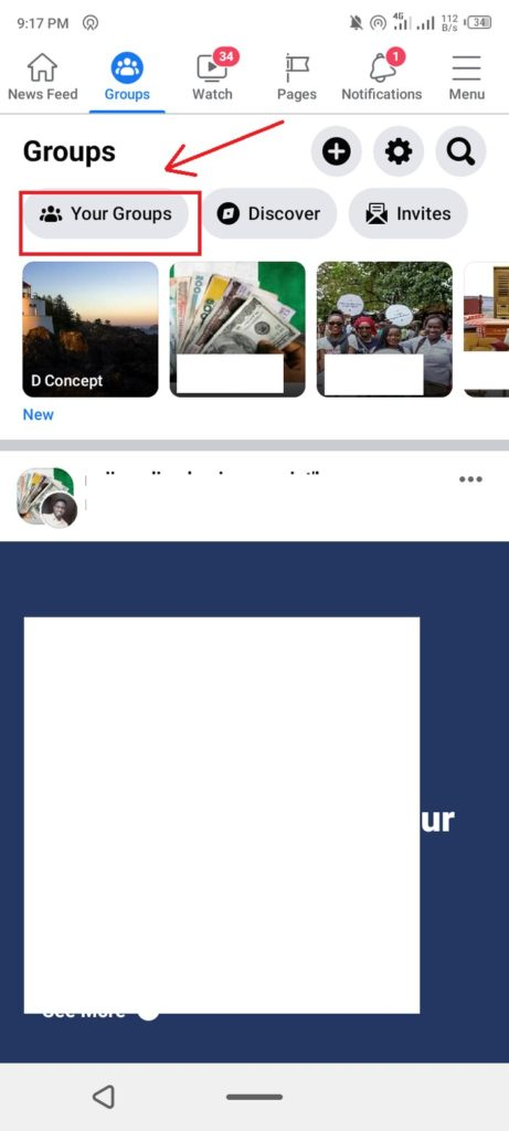 4. click on your group
