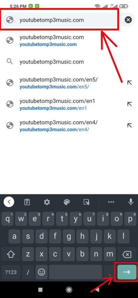 Type in Your Preferred YouTube to MP3 Converter's Domain Name Blogamigo
