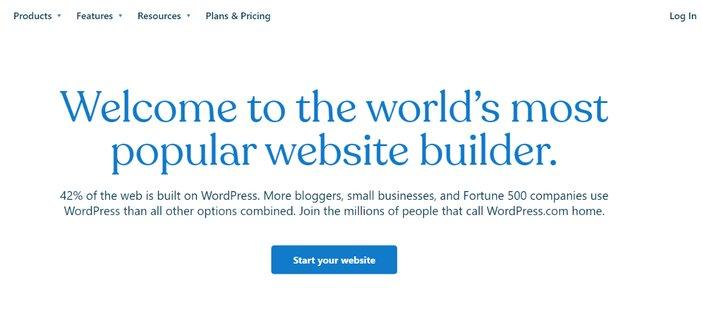 WordPress.com homepage blogamigo