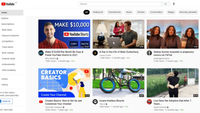 YouTube Homepage Blogamigo