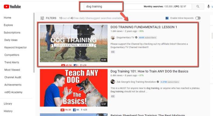 YouTube-Search-Result-Blogamigo