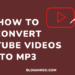 How to Convert YouTube Videos to MP3